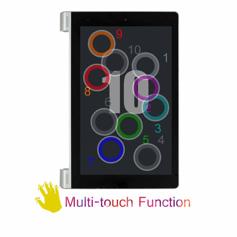 Lenovo B8000 Yoga Tablet 10 yenilemek tam LCD ekran paneli monitör dokunmatik ekran Digitizer sensörü meclisi ile çerçeve