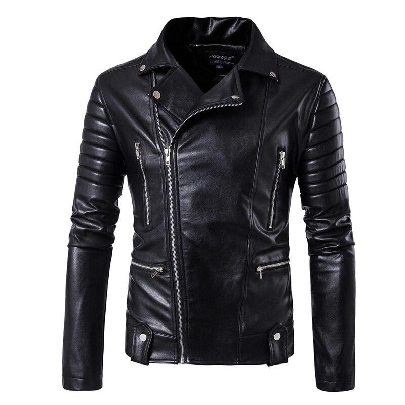 5XL manches bouffantes d'affaires en cuir décontracté vêtements Nouvelle vente Mode cuir veste Courte Hommes veste en cuir veste en cuir Classique
