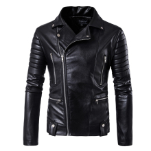 5XL puff sleeve business casual leather clothes New sale Fashion jacket Short  Men Classic