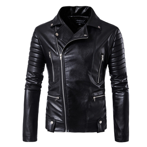 Image 1 - Puff sleeve business casual leather coat New winter Fashion leather jackets slim fit Men Classic leather jacket M 5XL size