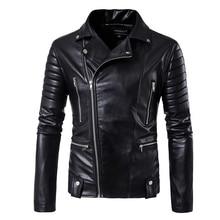 פאף שרוול עסקי מזדמן עור מעיל חדש חורף אופנה מעילי עור slim fit גברים קלאסי עור מעיל M 5XL גודל