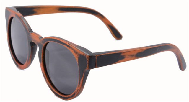 Bamboo Sunglasses Round  Bamboo Wood sun glasses  Brown Polarized Lens Eyewear oculos de sol masculinos Z6011