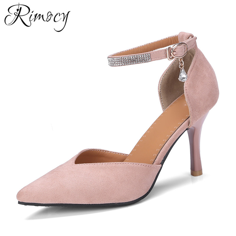 Rimocy pink shoes for women spring high heels pumps mujer ...