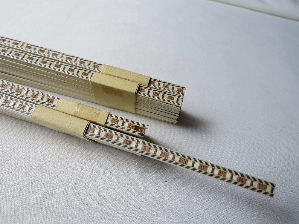 25STRIPS LUTHIER FIGURED BINDING C-65,Measures 6mm X 1.0mm Thick And 640mm Long