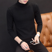 The new winter men's sweater knitted sweater Mens Casual slim turtleneck sweater