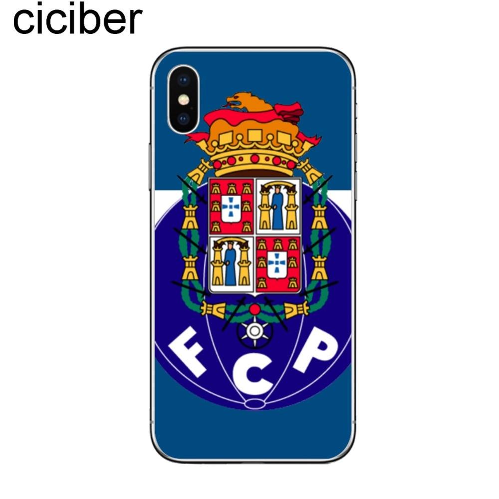02a40856f Ciciber portugalia klub piłki nożnej FC PORTO FCP telefon skrzynki pokrywa  dla iPhone 7 8 6 6 S Plus 5 5S SE X XS MAX XR piłka nożna przypadkach w  Ciciber ...