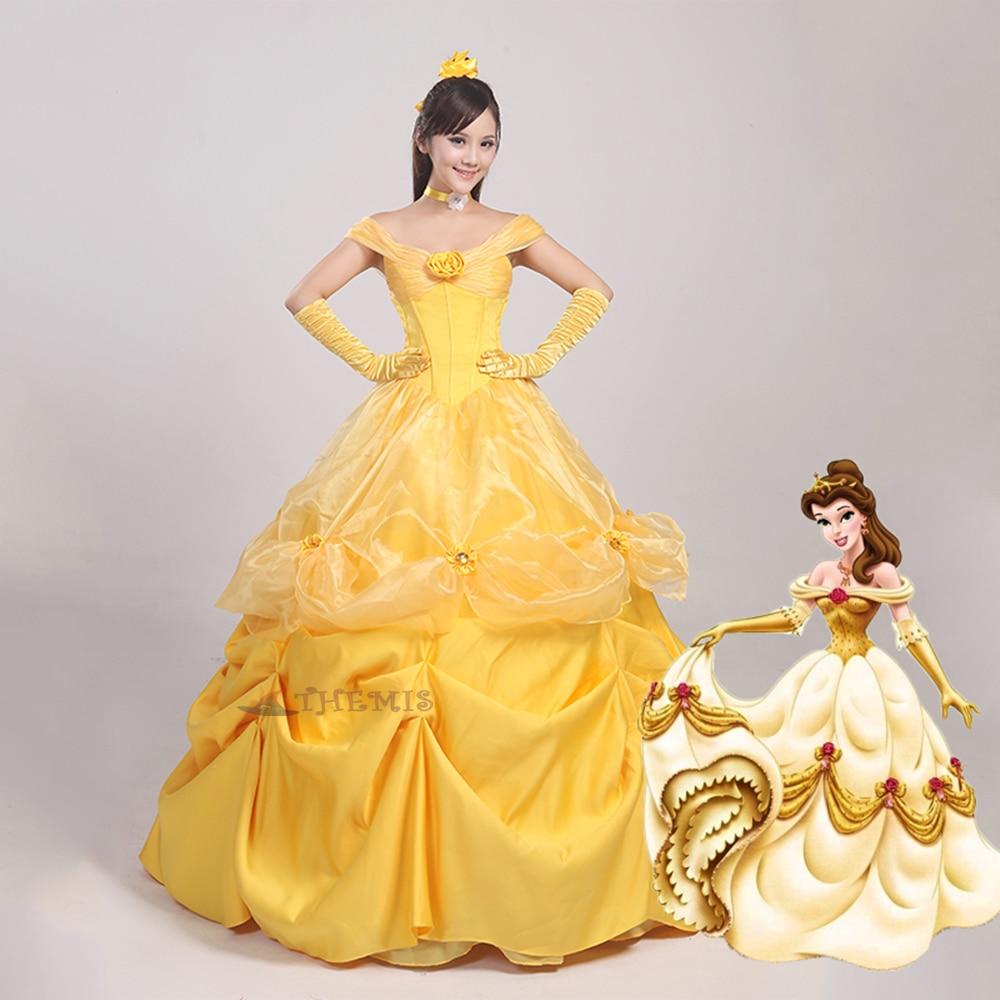 Athemis Anime Beauty and the Beast Princess Dress cosplay Christmas  Princess dress Adult style custom made  Dress High Quality