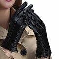 URSFUR Женщины Осень Зима Сенсорный Экран Перчатки ИСКУССТВЕННАЯ Кожа Теплые Варежки Мода Guantes Guantes де-лас-мухерес де-лас-мухерес