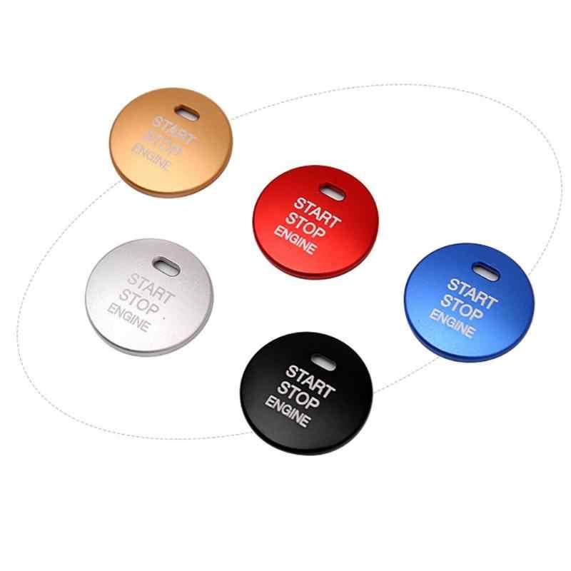 Cinque Colori Accessorie Auto di Alluminio Auto ARRESTO di INIZIO del Motore Pulsante Interruttore Sostituire Copertura Trim Cap Sticker per Mazda3 Axela CX-3 /4/5