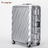 Aluminum Frame+PC Travel Rolling Lugagge Suitcase Bag,malas de viagem com,Trip Box,Hardside Carry On ,20 24 28 Trolley Case