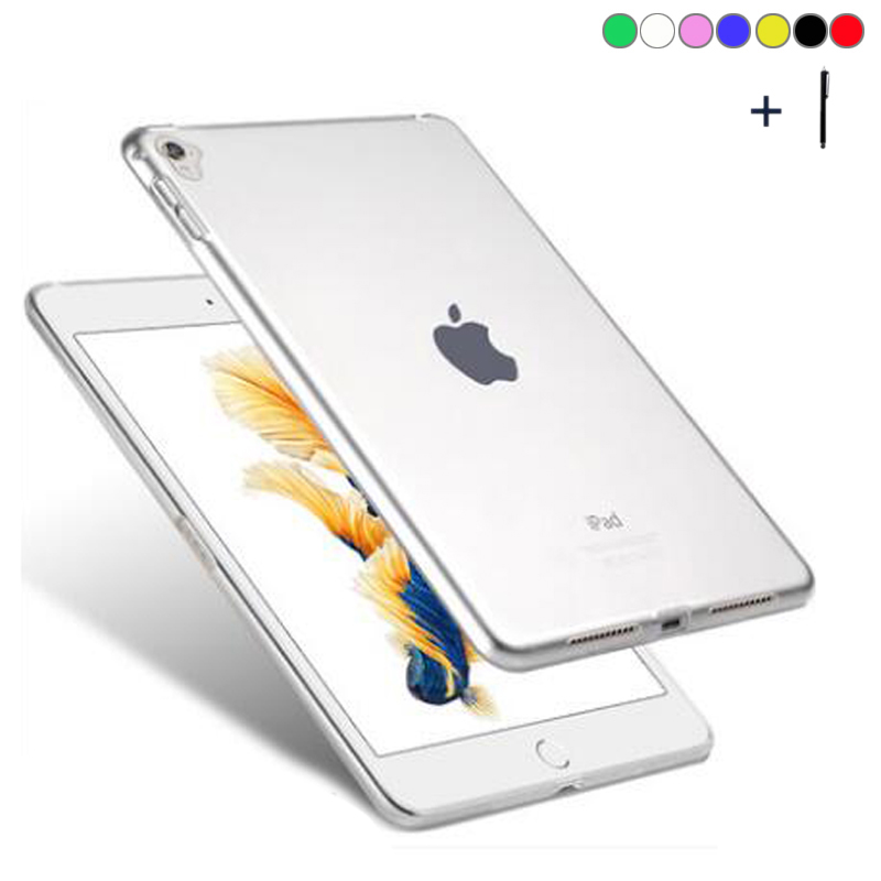 For iPad Pro 12.9 inch 2017 Clear Soft TPU Case For iPad Pro 12.9 inch 360 Full Cover Coque For iPad Pro 12.9 Gel Capa Fundas