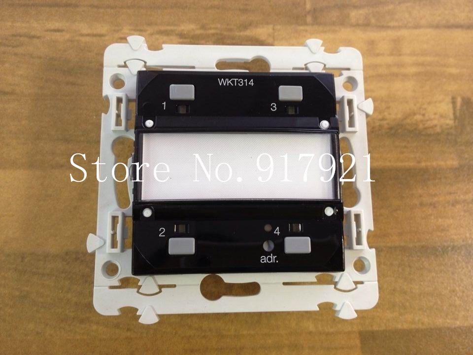 [ZOB] Hagrid WKT314 four EIB/KNX intelligent lighting switch [zob] berker brocade 75162773 double button panel eib knx lighting original authentic 2pcs lot