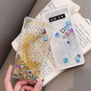 Image 5 - KISSCASE Glitter Liquid Quicksand Silicone Case For Samsung Galaxy S10 Plus App Icon Cover Coque For Samsung S10 Lite Case Funda