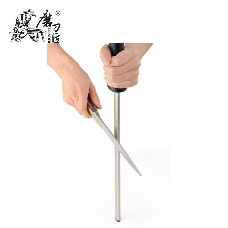 grinder diamond knife sharpening steel rod sharpener with abs handle professional knife. Black Bedroom Furniture Sets. Home Design Ideas