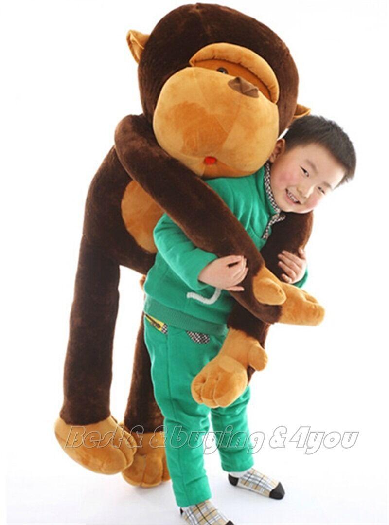 Date 55 ''géant énorme singe doux en peluche poupée grand Animal en peluche jouet enfants cadeau mignon en peluche