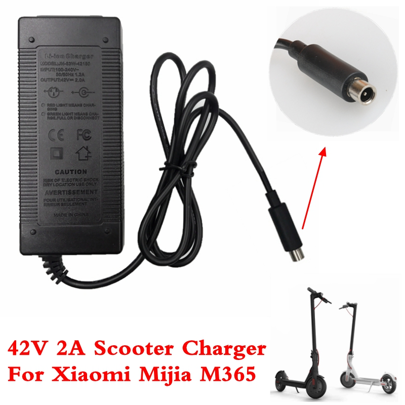 Electric Scooter Charger 42V 2A Adapter for Xiaomi Mijia M365 Ninebot Es1 Es2 Electric Scooter Accessories Battery Charger(China)