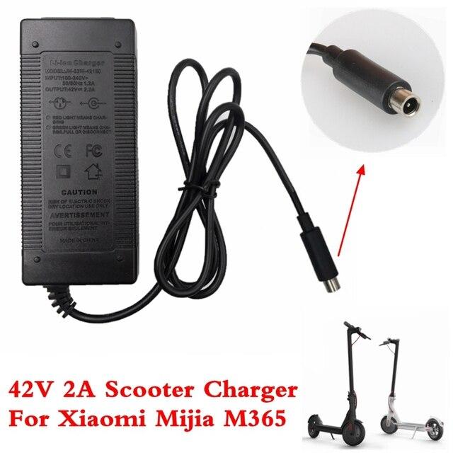 Electric Scooter Charger 42 V 2A Adapter cho Xiaomi Mijia M365 Ninebot Es1 Es2 Điện Phụ Kiện Xe Tay Ga Pin Sạc
