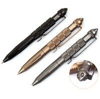 Мульти-металлическая вешалка Открытый EDC инструмент шариковые ручки авиационный алюминиевый сплав противоскользящие самообороны тактиче...