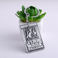 Jewelry The Star Wars Trilogy Letters Keychains 2 Colors Vintage Square Zinc Alloy Key Chain Key