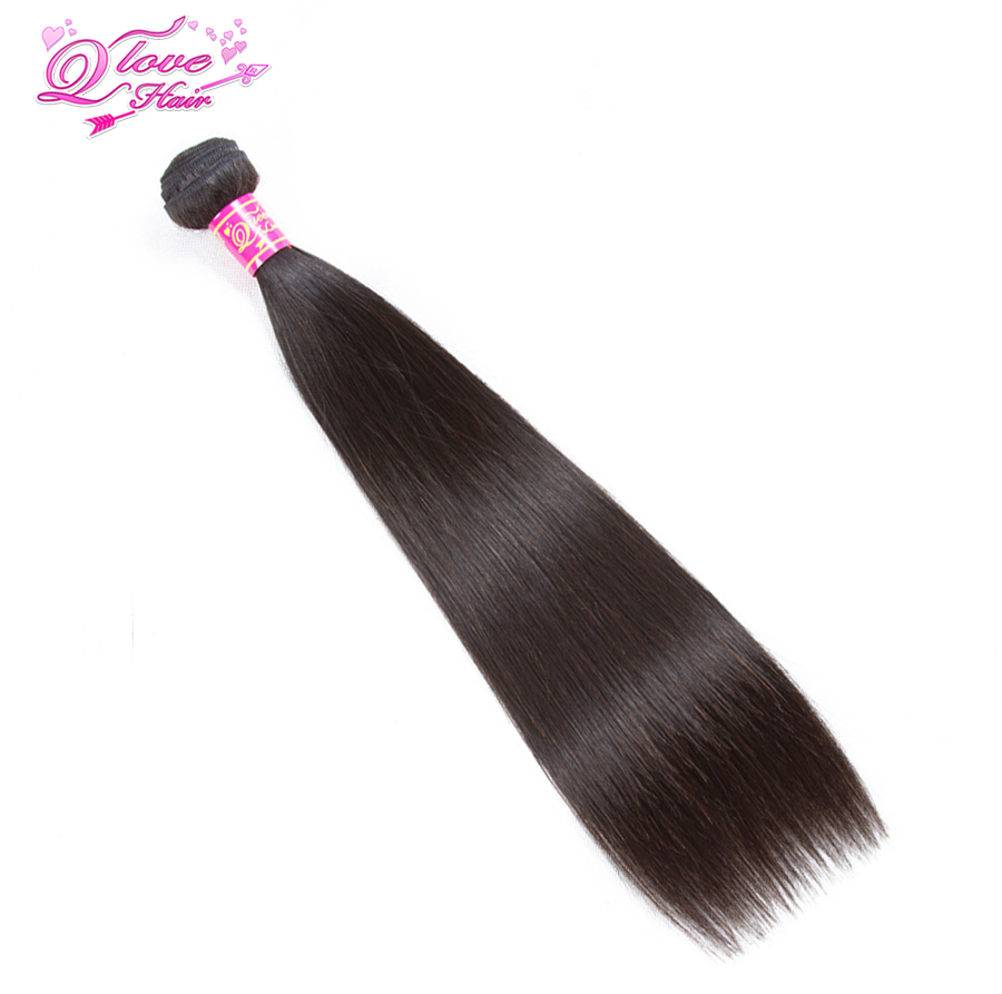 Queen Love Hair Brazilian Non Remy Straight Hair 1 Bundles 100% Human Hair Weave Natural Color Hair Cabelo Humano 8-26 Inch