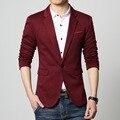 Мужская повседневная пиджак Трикотажные slim fit пальто Мужской одежды Весна Осень красный синий Серый черный большой размер 6XL Blaser мужской Падение корабля