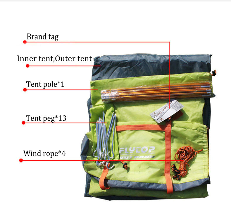 FLYTOP Outdoor Camping Tent For Rest Travel 2 Persons 3 Double Layer Windproof Waterproof Winter Professional Camp Tourist Tent (9)