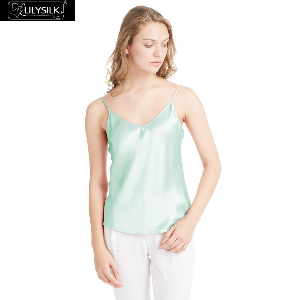 86fd08ab343c0 Detail Feedback Questions about LILYSILK Camisole Top Women Silk V Neck 100  Real Pure Mulberry Charmeuse 19MM Basics Ladies Lingerie Vest Clearance Sale  on ...