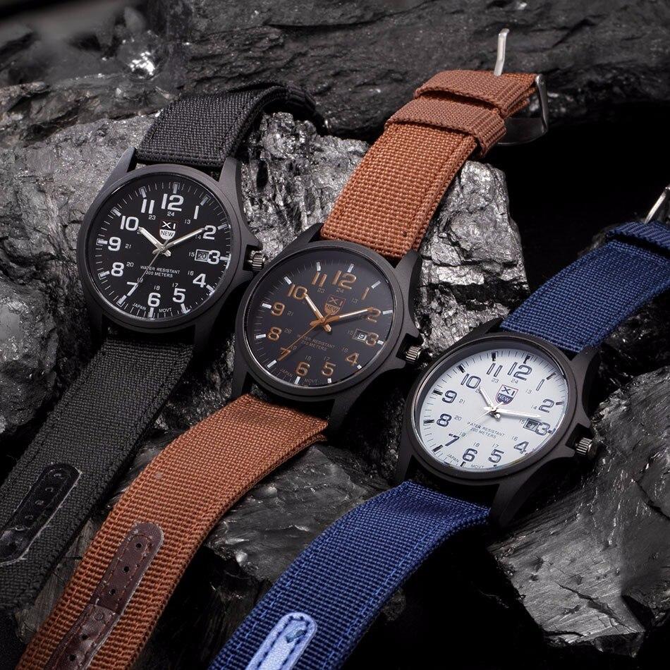 Fantastyczny xinew luksusowe boisko sportowe mężczyzna zegarka kalendarz data mens steel analogowe kwarcowy zegarek wojskowy erkek relogioi kol saat 9