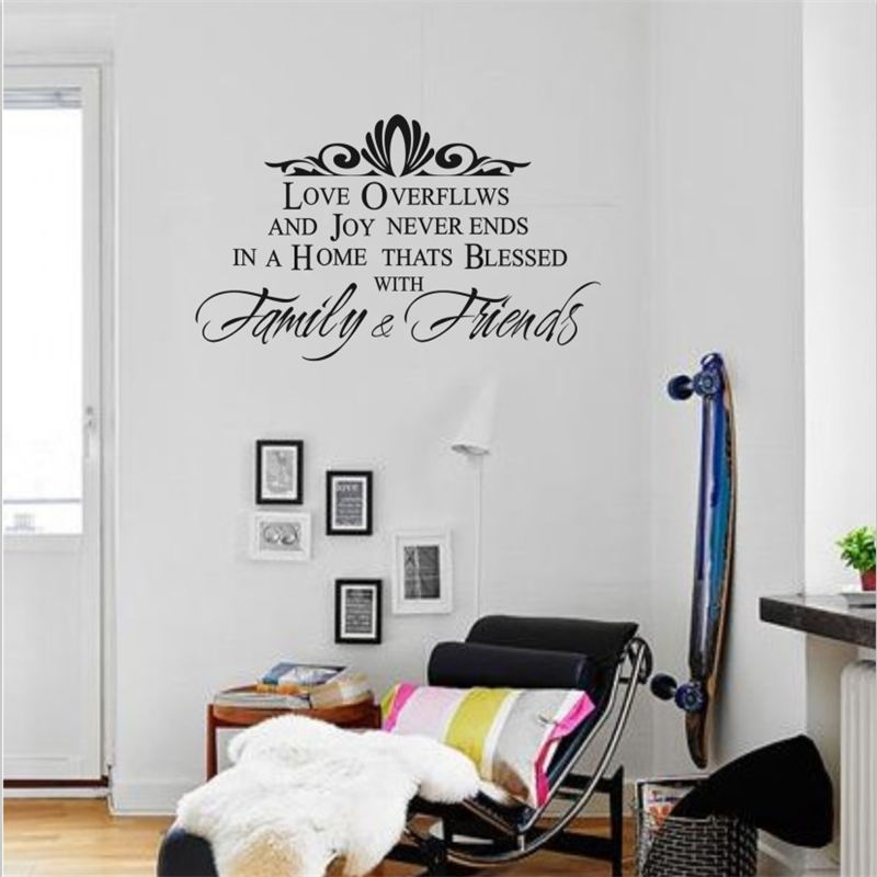 family & friends home decoration creative quote wall decal ...