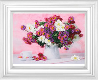 Needlework DIY Ribbon Cross Stitch Sets For Embroidery Kit Beautiful Vase Flowers Bands Embroidery Wall Wedding