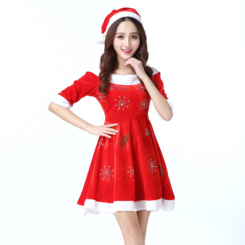 Christmas Temptation uniforms  Lovely Princess Acting Dress Women Costume Cosplay for Party Clothes Sexy Charming Girls