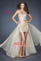 Бесплатный shpping 2016 формальное вечернее платье с блестками кристалл плюс размер черное платье выпускного вечера партии Homecoming Платья со съем