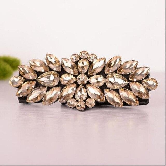 New Arrival Women Wedding Dress Spandex Belt with Diamonds White/Champagne Bridal Sash Free Shipping