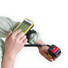 Generalscan GS WT1000 1D Laser Mini BT Ring Barcode Scanner With Wired Ring Armband For Logistic