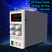 110V/220V DC US/EU LED Voltage Regulator KPS3010D 0 30V 10A Switching Power Supply Precision Low Ripple/Noise Highly Efficient