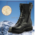 New Men's Genuine Leather Boots Wool Martin Winter Motorcycle Mens Safety Military Boots Shoes Steel Toe Shoes Free SHipping
