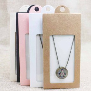 Image 5 - 50PCS various color gift package& display window box candy box with hanger necklace /earring jewelry packing window box