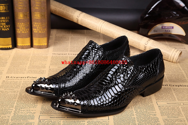 Mens leather shoes spiked loafers pointy crocodile skin shoes zapatos hombre designer luxury formal shoes men party dresses choudory summer dress crocodile skin shoes men breathable prom shoes full grain leather pointy mens formal shoes shoe lasts