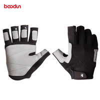 BOODUN Berufs Klettern Handschuh Tragen Beständig PU Halb Finger Wand Abwehr Handschuhe Anti Slip für Mountaineer