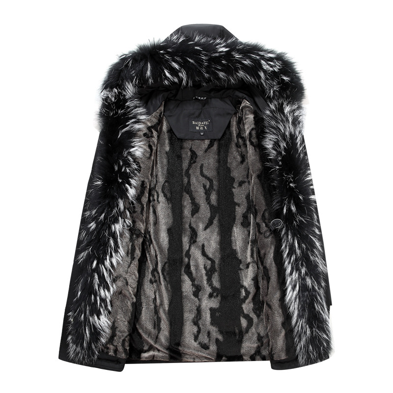 2019 Winter Donsjack Mannen Jas Jas met Bont Kap Verwijderbare Parka Mannen Jas Mannelijke Donsjack Plus Size 4XL 5XL-in Donzen jassen van Mannenkleding op  Groep 2