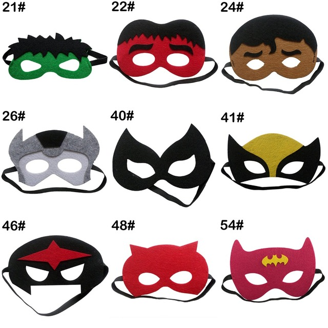 Superhero Mask Superman Batman Spiderman Hulk Thor