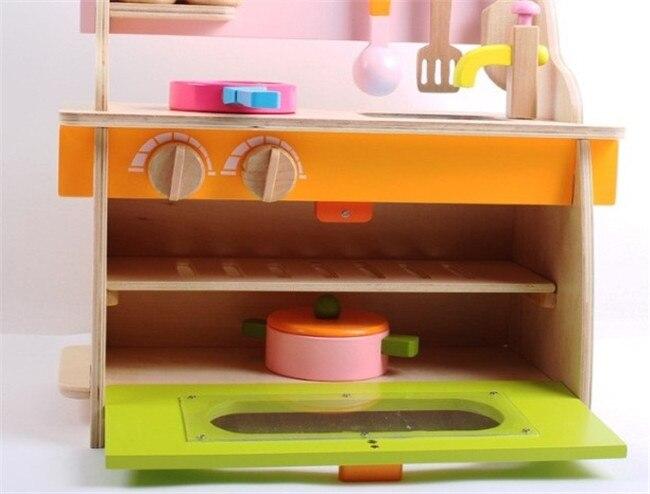 Nuova legno set da cucina giocattolo di legno smontaggio