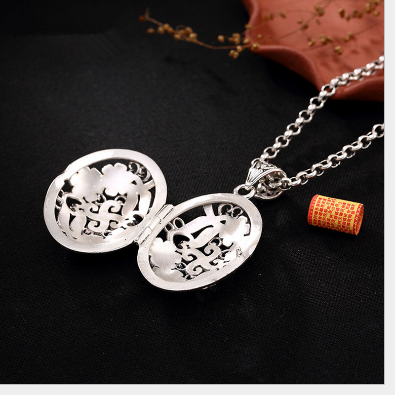 925 Sterling Silver Stylish Unique Buddha Head Pendant Jewelry Gift for Women