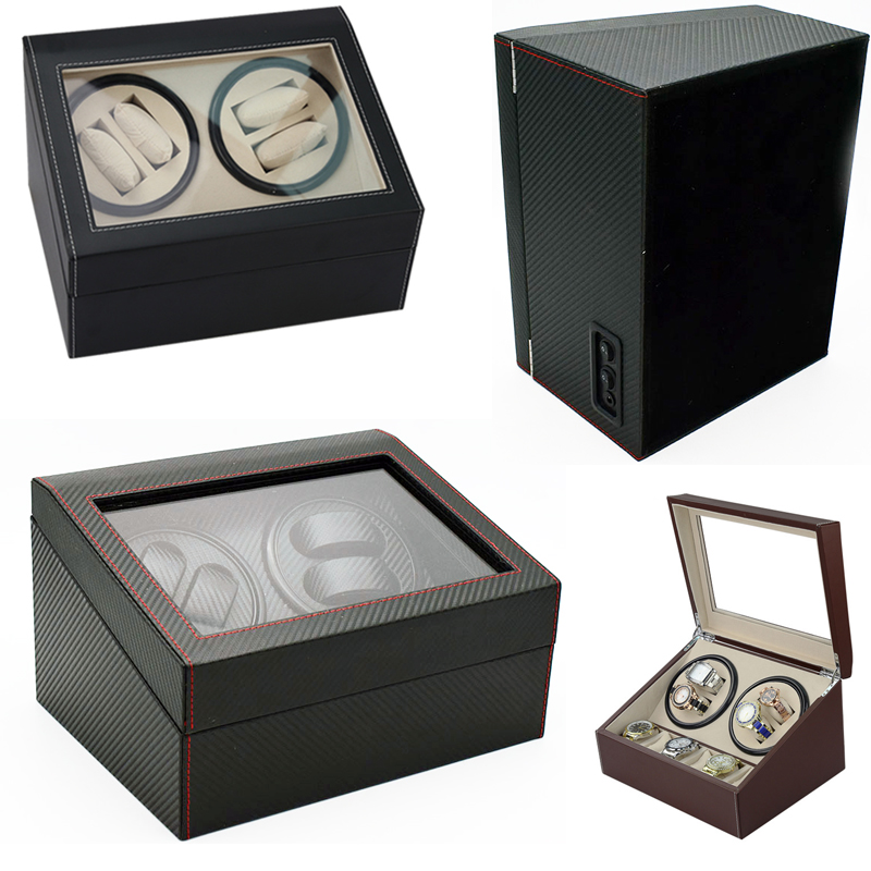 Watch Winders Case Cabinet Grids Rotate Watch Motor Machine Box Gift World Use Safe Plug watches watch winders drop shipping new watch winders case cabinet grids rotate watch motor machine box gift world use safe plug watches watch winders drop shipping new