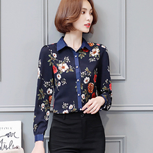 Plus Size Blusas Women Floral Printing Blouse Spring Autumn Style Ladies Long Sleeve turn down collar Shirts fashion Top 112i6 girls plaid blouse 2019 spring autumn turn down collar teenager shirts cotton shirts casual clothes child kids long sleeve 4 13t