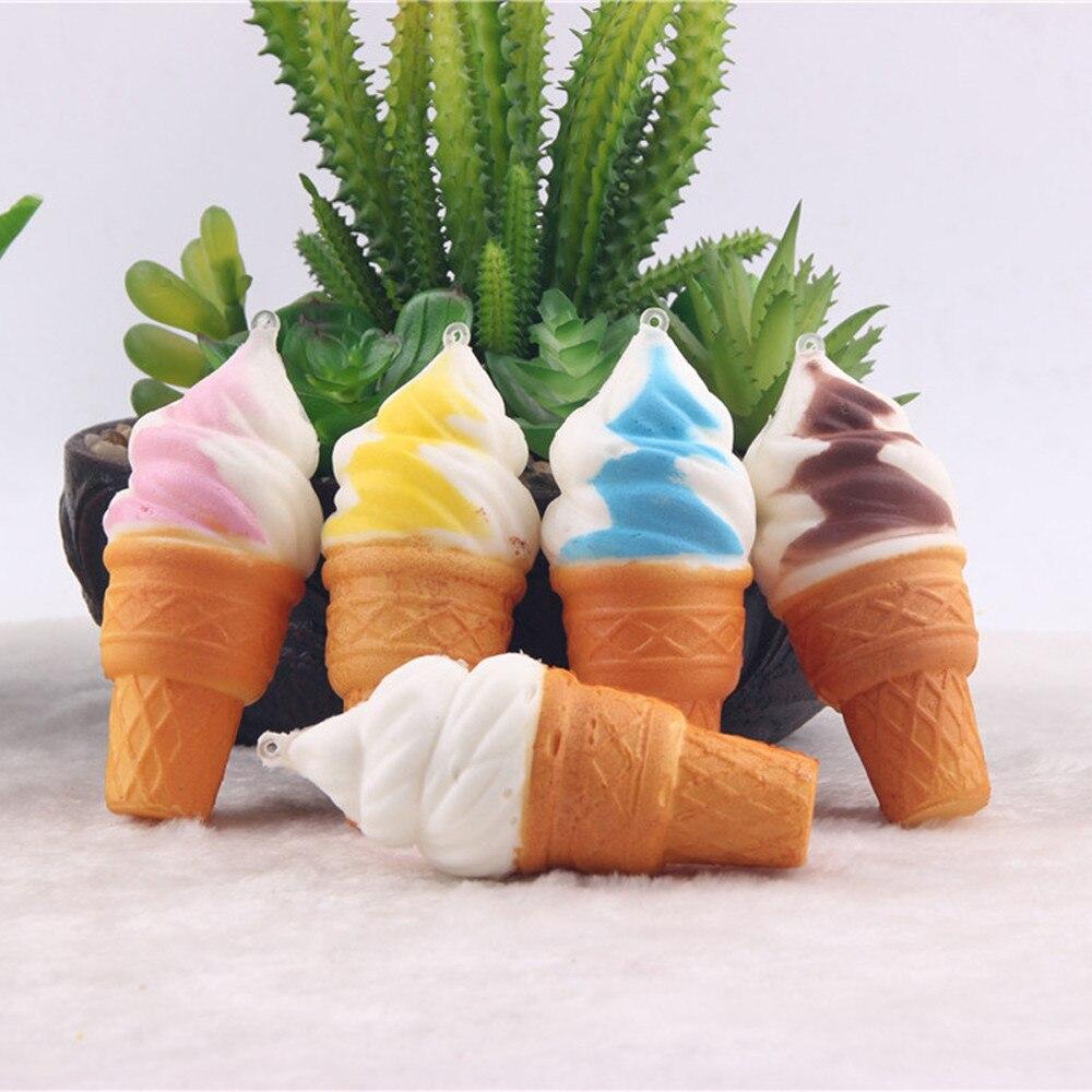 Comprimere Giocattoli Colorful Ice Cream Torta di Simulazione Lento Aumento Alleviare Lo Stress Cellulare Cinghie Pane Giocattoli per I Bambini Del Bambino Del Regalo Del Partito
