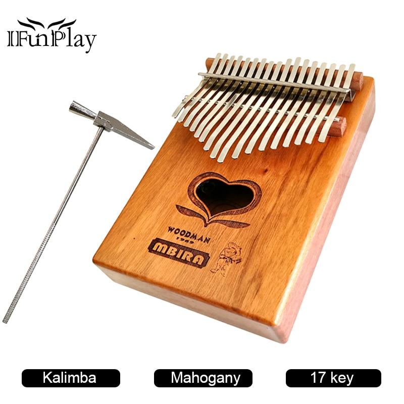 BúSqueda De Vuelos 17 Teclas De Caoba Kalimba Forma De Corazón De Madera Pulgar Africano Piano Dedo De Percusión Teclado Instrumentos De Música De Alta Calidad