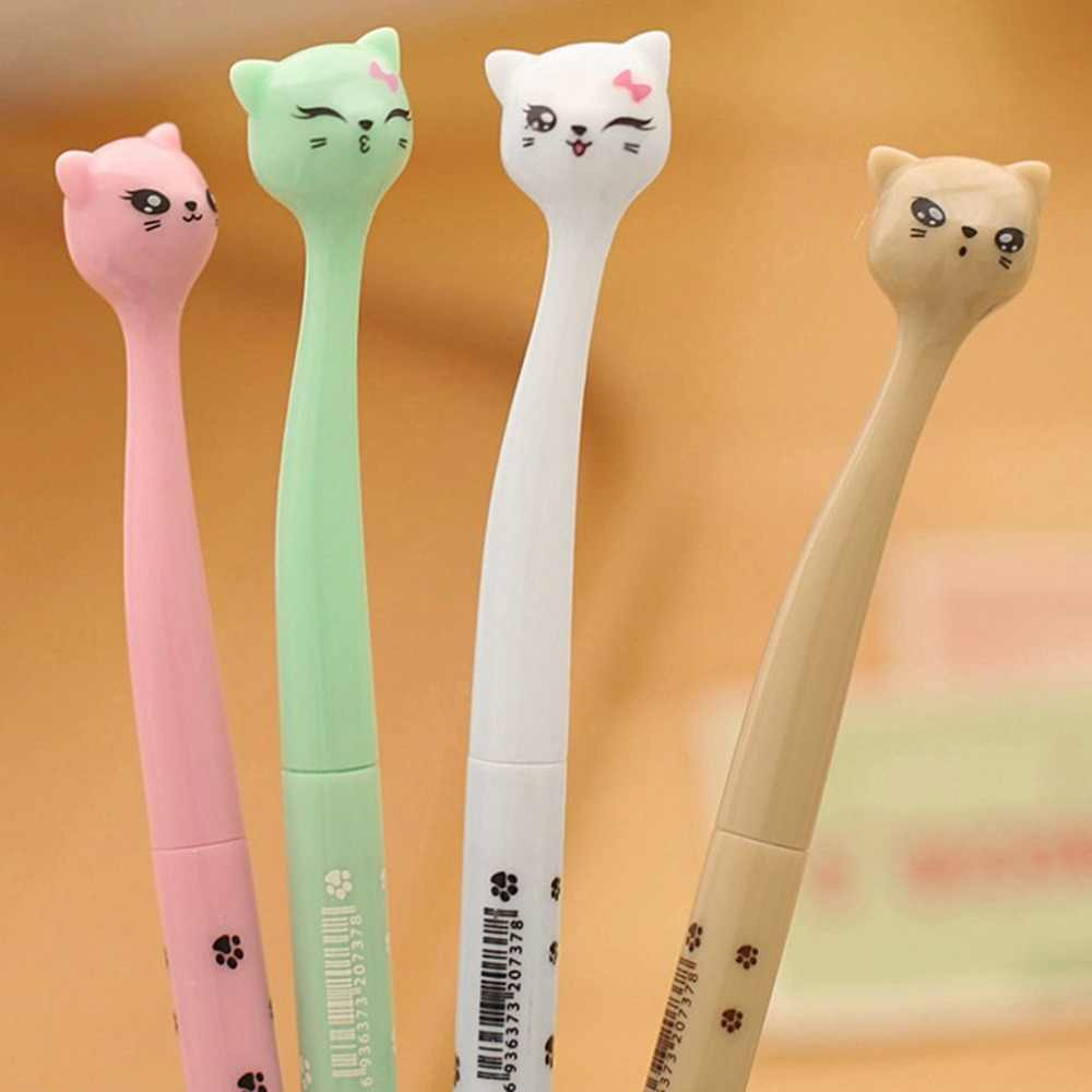 Small Size Cute Kawaii Cartoon Cat Pen 0.5MM Black Ink Gel Pen Ballpoint Pen for School Writing Office Stationery Supplies