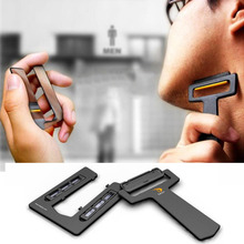 2018 Newest Outdoor Ultra-portable Card Shaver Pocket Razor Safety Razor With Mirror & Blades For Gift Wholesale & Dropshipping