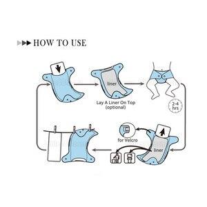 Image 4 - [Littles & Bloomz] 10 шт Многоразовые моющиеся вкладыши для карманных подгузников из микрофибры бамбуковый угольный вкладыш